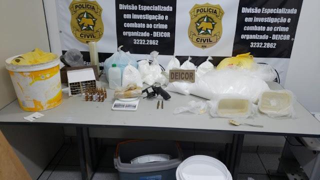 Polícia Civil desmancha laboratório de drogas e prende dois homens por tráfico no RN