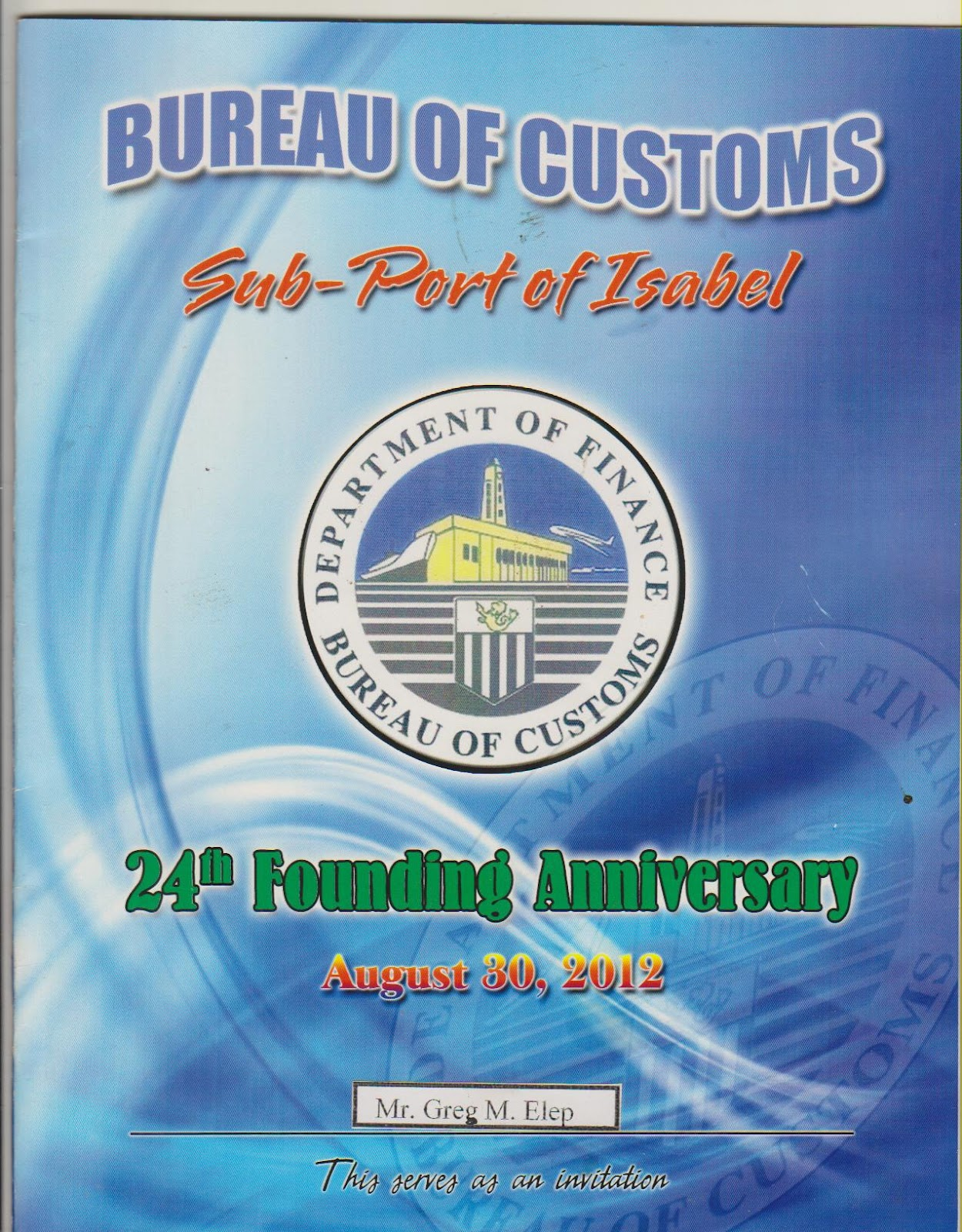 palomponwhatshappening: 24th Founding Anniversary BOC Isabel