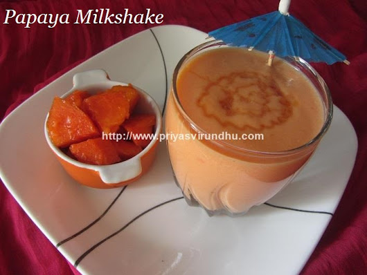 Papaya Milkshake Recipe/Papaya Milkshake/Papaya Recipes/Summer Drink Recipes/பப்பாளி பழம் மில்க் ஷேக்
