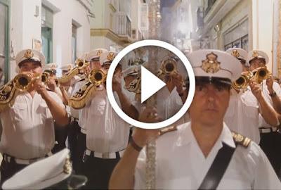 Banda Rosario de cadiz tocando la marcha señor de nervion dedicada al cristo de la sed de sevilla
