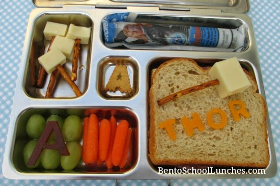 Avengers Thor bento school lunch, planetbox rover