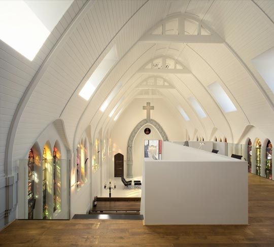 Church conversion to chic private home