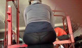 Nalgona gym leggins transparentes