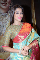 Shriya Saran Looks Stunning in Silk Saree at VRK Silk Showroom Launch Secundrabad ~  Exclusive 012.JPG