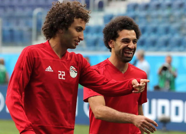 Amr Warda and Mohamed Salah