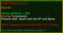 naruto castle defense 6.0 item Tailed beast power detail