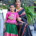 Lakshmi Manchu Daughter Green Silk Lehenga