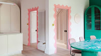 Pastel colors pink and green color idea