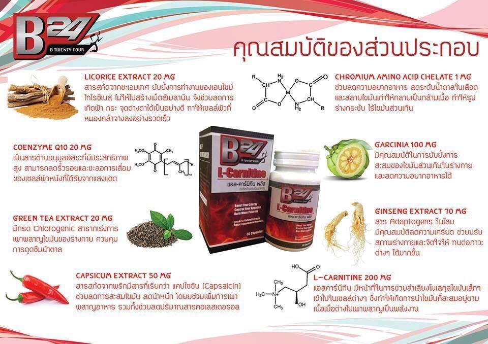 B24 ผลิตภัณฑ์เสริมอาหารลดน้ำหนักและดูแลรูปร่าง