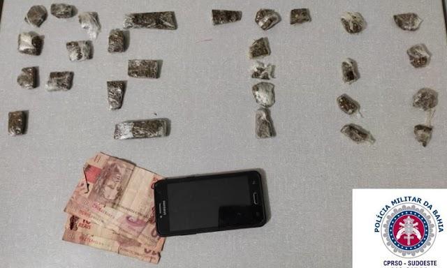 Polícia Militar prende casal suspeito de tráfico de drogas na Chapada Diamantina