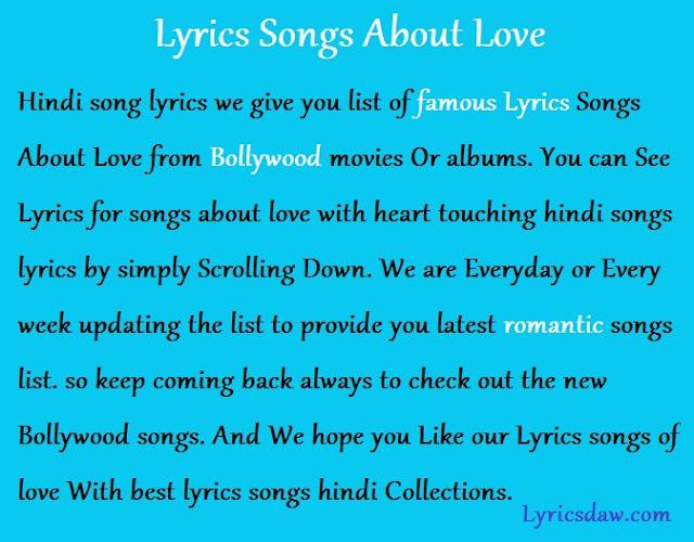 , Tenu Vekhi Jaavan Lyrics – Shahid Mallya & Asees Kaur – Catchy Lyrics, SongLyricsin.in
