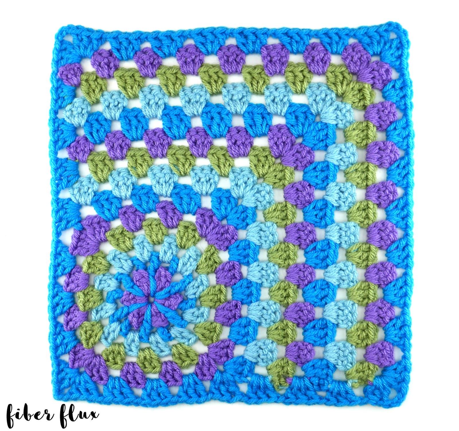 Fiber Flux Free Crochet Patternrawflower 12 Granny Mitered