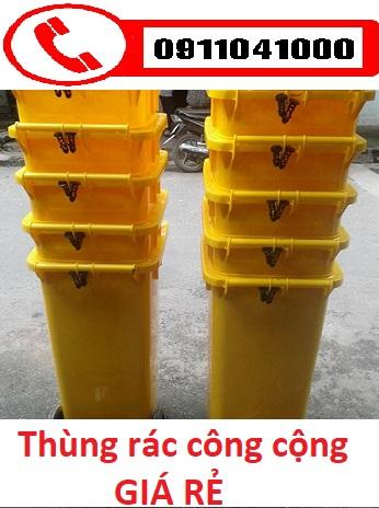 Thùng rác 120lit 240lit xe thu gom rác thải công cộng