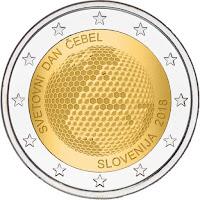 slovenia 2 euroa kolikko maailman mehiläispäivä 2018