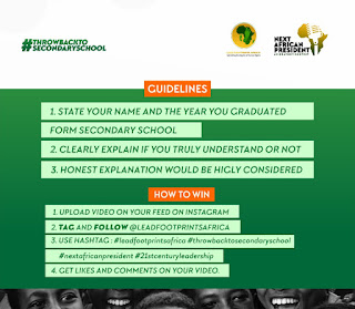 Lead Footprints Africa Set to Host Next African President