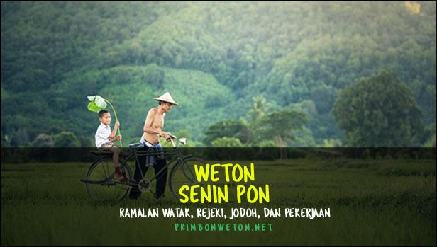 Weton Senin Pon