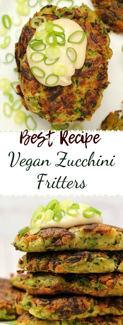 Vegan Zucchini Fritters #healthyfood #dietketo