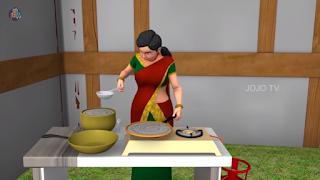 girl preparing masala dosa
