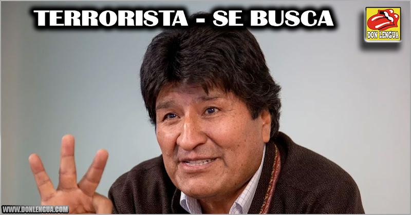 Evo Morales acusado formalmente por terrorismo - Debe ir a la cárcel