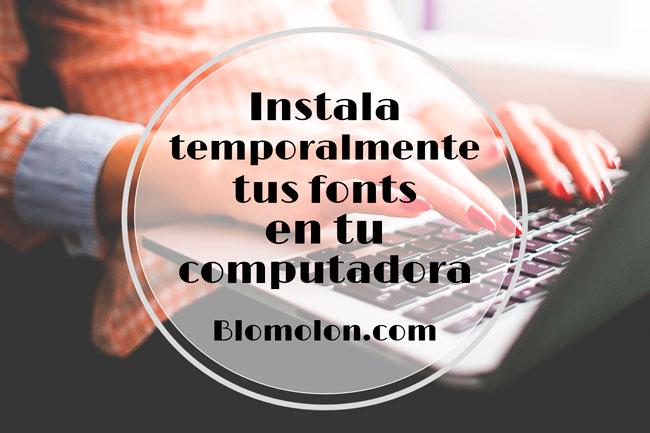 instala temporalmente tus fonts en tu computadora