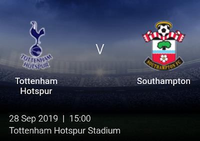 LIVE MATCH: Tottenham Hotspur Vs Southampton Premier League 28/09/2019