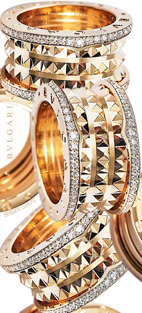 B.zero 1 The Rock ring in rose gold #jewelry #brilliantluxury