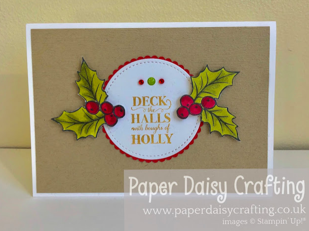 Nigezza Creates With Paper Daisy Crafting and Stampin Up Christmas Gleaming