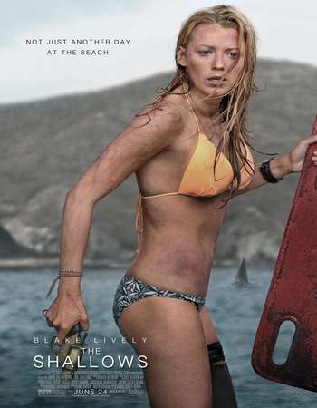 Poster Of The Shallows 2016 Dual Audio 720p BRRip [Hindi - English] ESubs Free Download Watch Online downloadhub.net