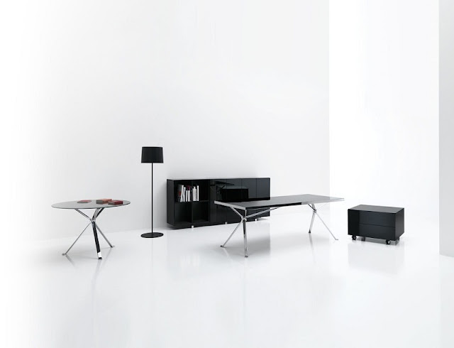 best buy black gloss modern office furniture Jeddah for sale
