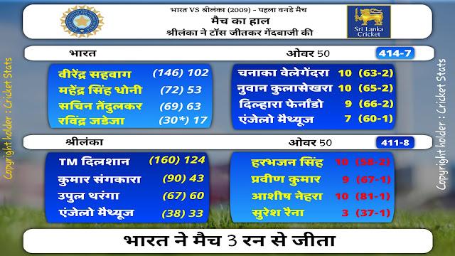 India vs sri lanka odi cricket