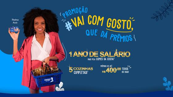 Promoção Vai com gosto que dá prêmios Gomes da Costa