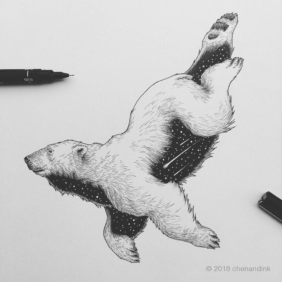 04-Polar-Bear-Astral-Animals-Chen-Naje-www-designstack-co