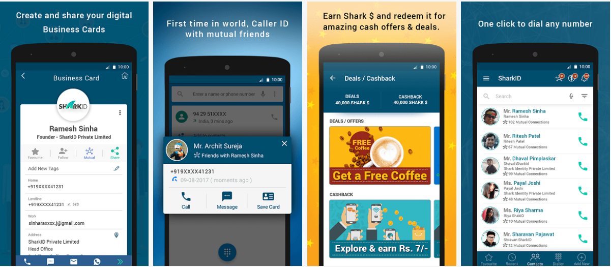 SharkID a smart Phone Book App launched in India