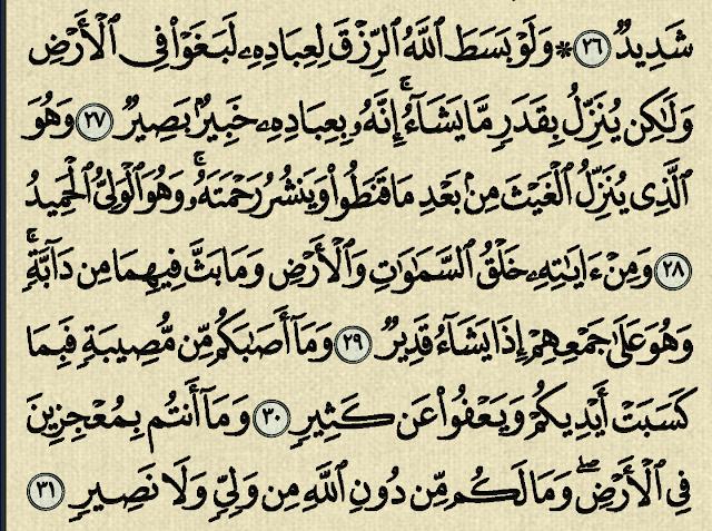شرح وتفسير سورة الشورى surah Ash-Shura (من الآية 26 إلى الآية 44  )