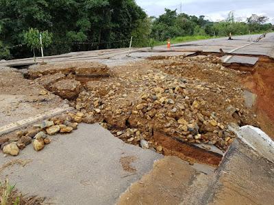 BR-425 pode ser totalmente interditada se chuva continuar em Rondônia