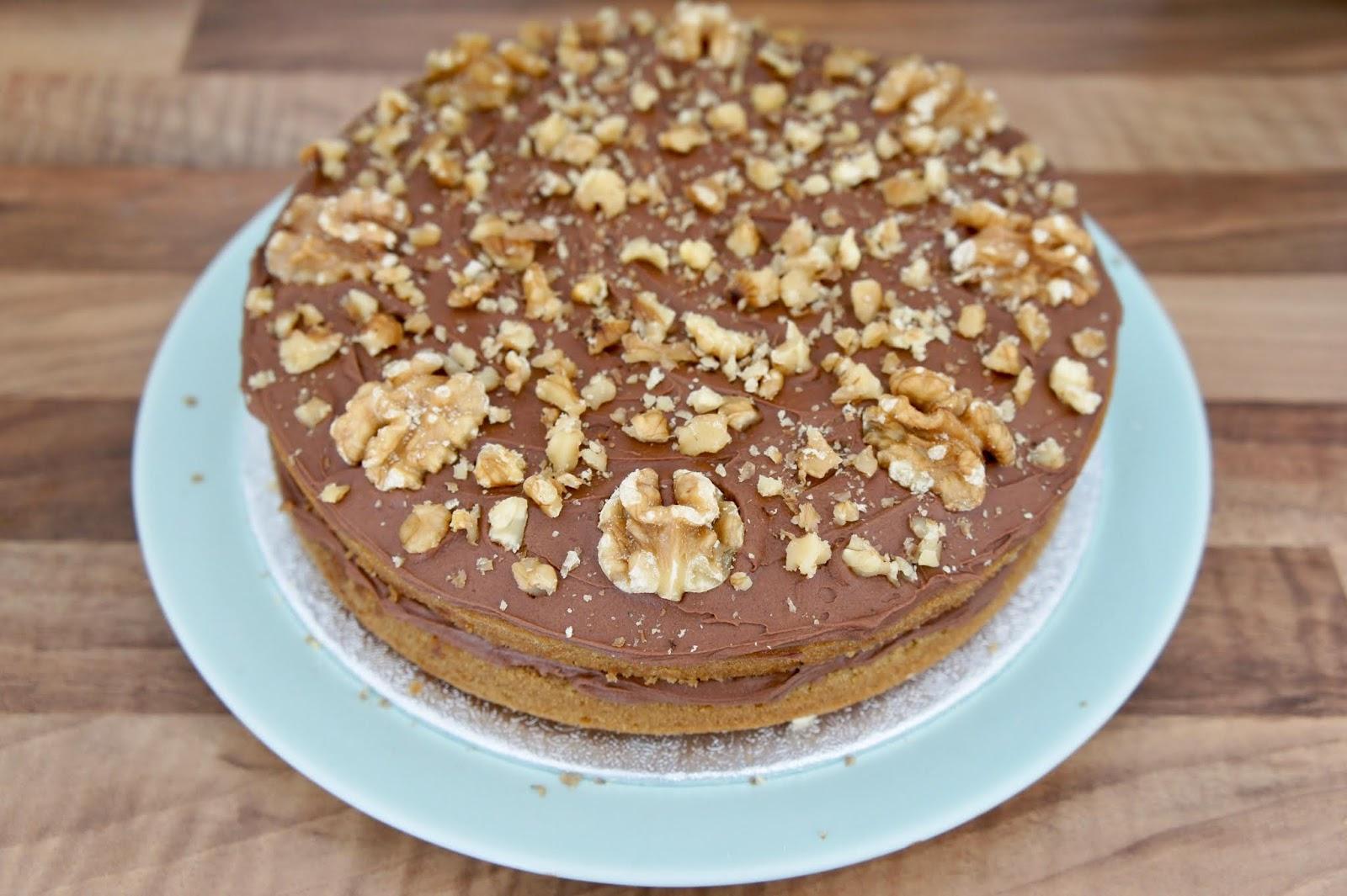 Vegan Gluten Free Mocha Walnut Cake