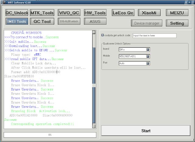 QiKu 360 N5S 1607-A01, QiKu 360 N5S 1607-A01 Test Point 9008 - Xóa Mật Khẩu Màn Hình QiKu 360 N5S 1607-A01