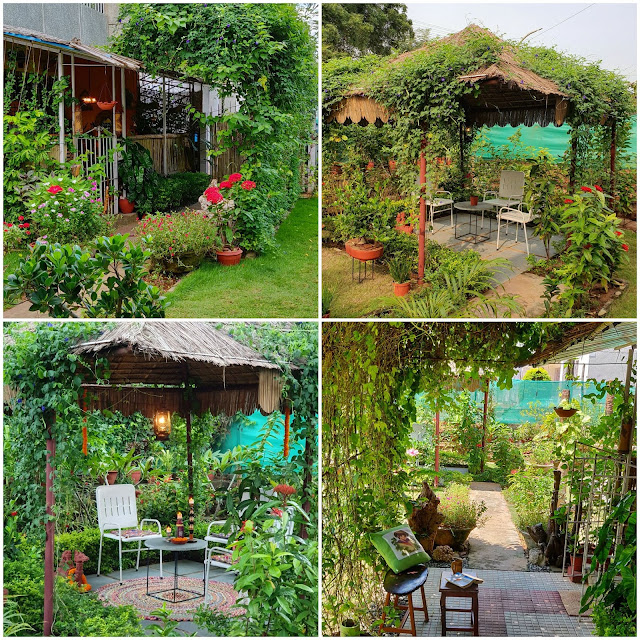 Gardens in Reshma's military homes