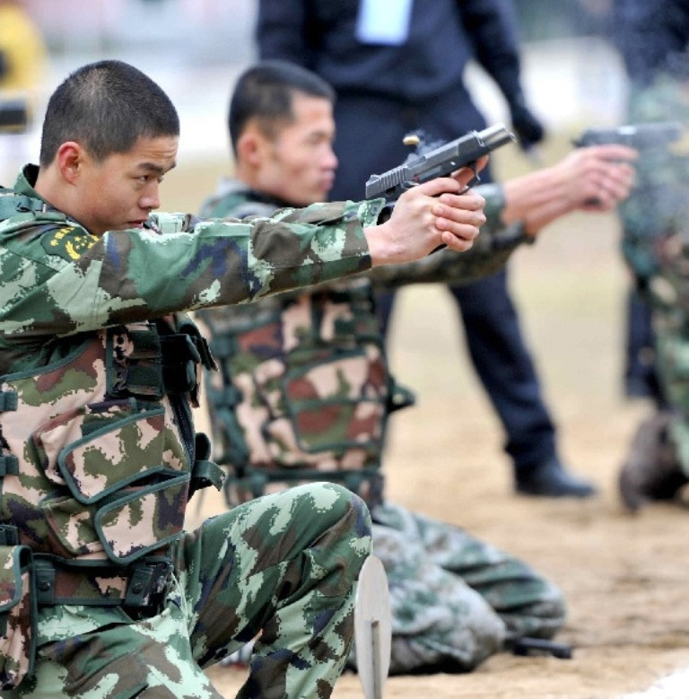 China Police: Recruits Of People's Armed Police Force Undergo Anti
