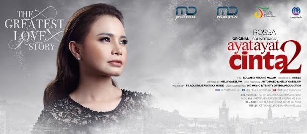 Video Musik Bulan Dikekang Malam - Rossa, Soundtrack Ayat Ayat Cinta 2