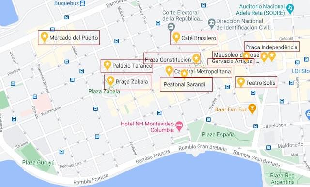 mapa da ciudad vieja de montevideo