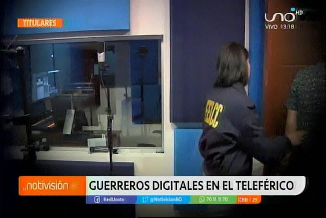Habrían dos detenidos en intervención al laboratorio audiovisual de Mi Teleférico
