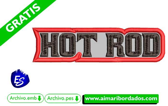 Logo Hot Rod Para Bordar