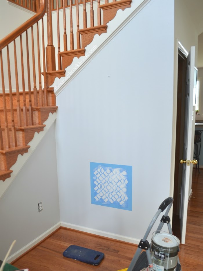 stenciling an accent wall