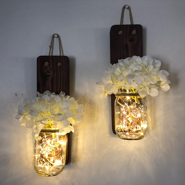mason jar wall sconces