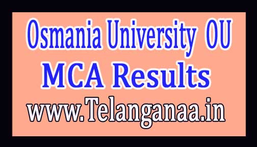 Osmania University OU MCA (2 Years Course) Results 2016