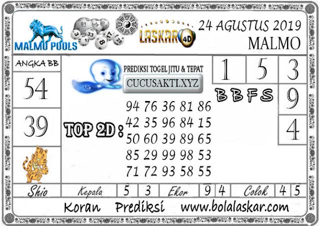 Prediksi Togel Jitu MALMO LASKAR4D 24 AGUSTUS 2019