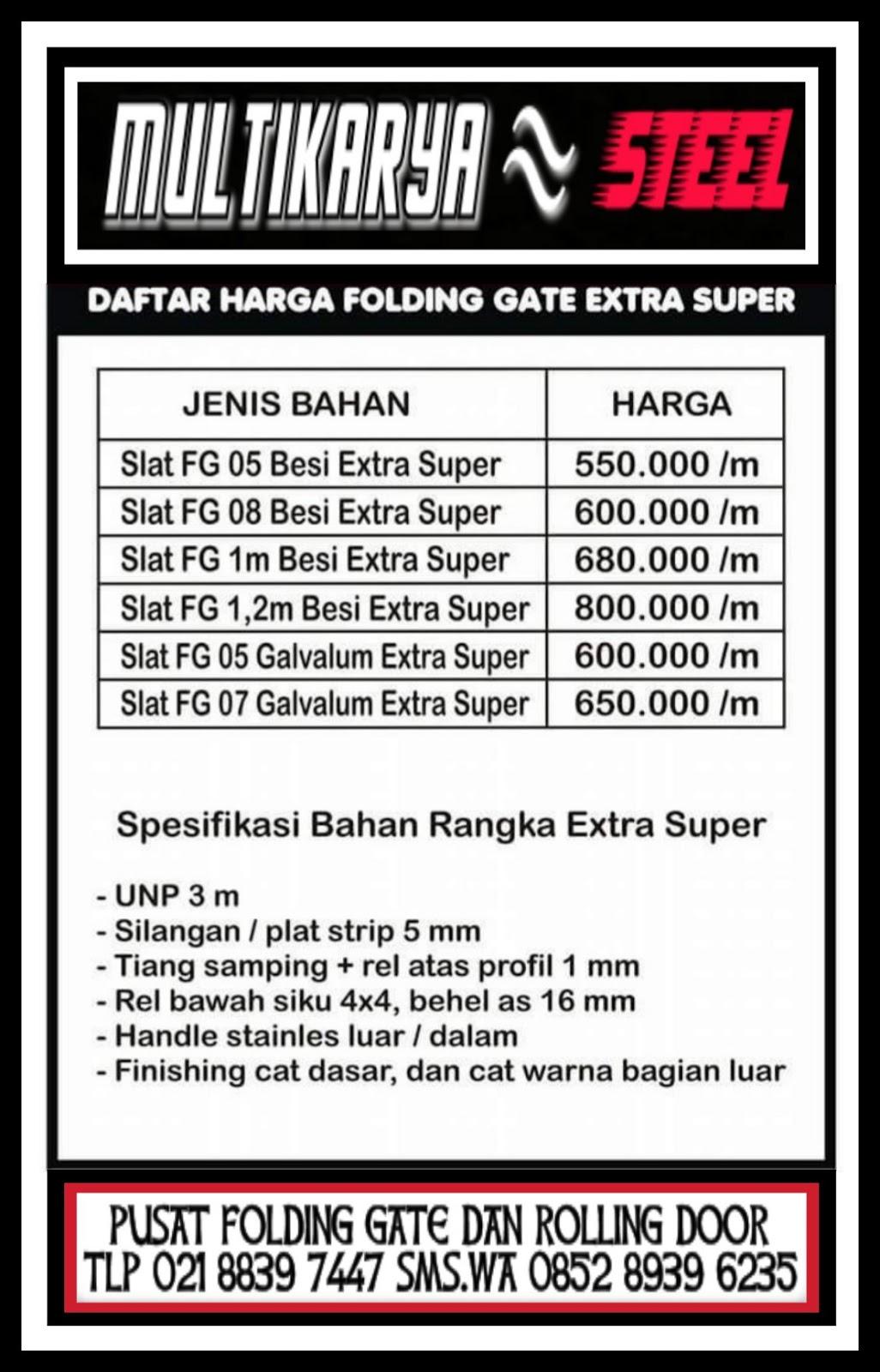 Daftar Harga Pintu Folding Gate Purwokerto Murah ~ FOLDING GATE ...