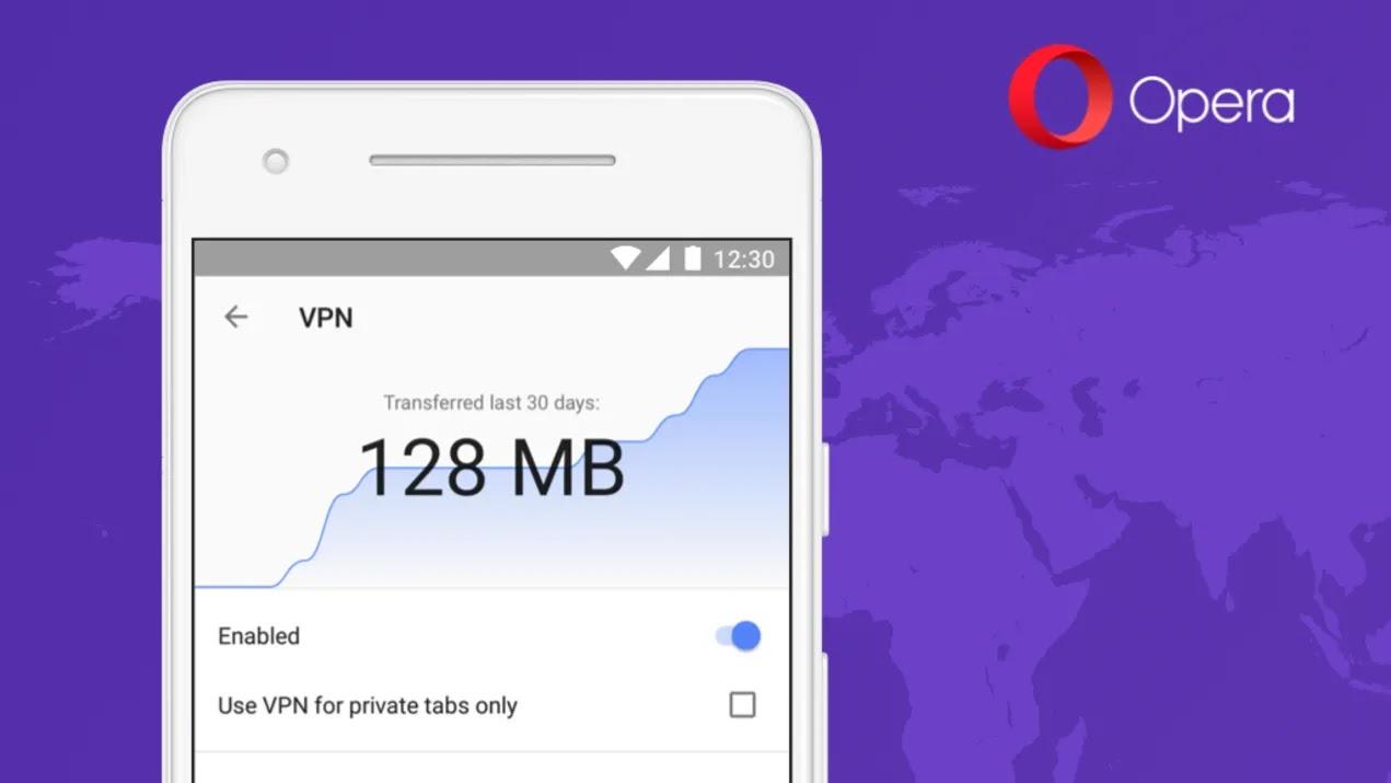 اخيرا متصفح اوبرا على الاندرويد يتيح لك تشغيل vpn بشكل افتراضي داخل المتصفح