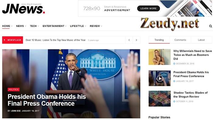 JNews v8.0.3 – Responsive WordPress Magazine Blog AMP Theme Nulled